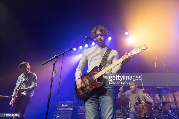 Alex Ruggiero Jake Daniels and Brian Moroney of Airways perform on stage at O2 ABC Glasgow on February 23 2018 in Glasgow Scotland