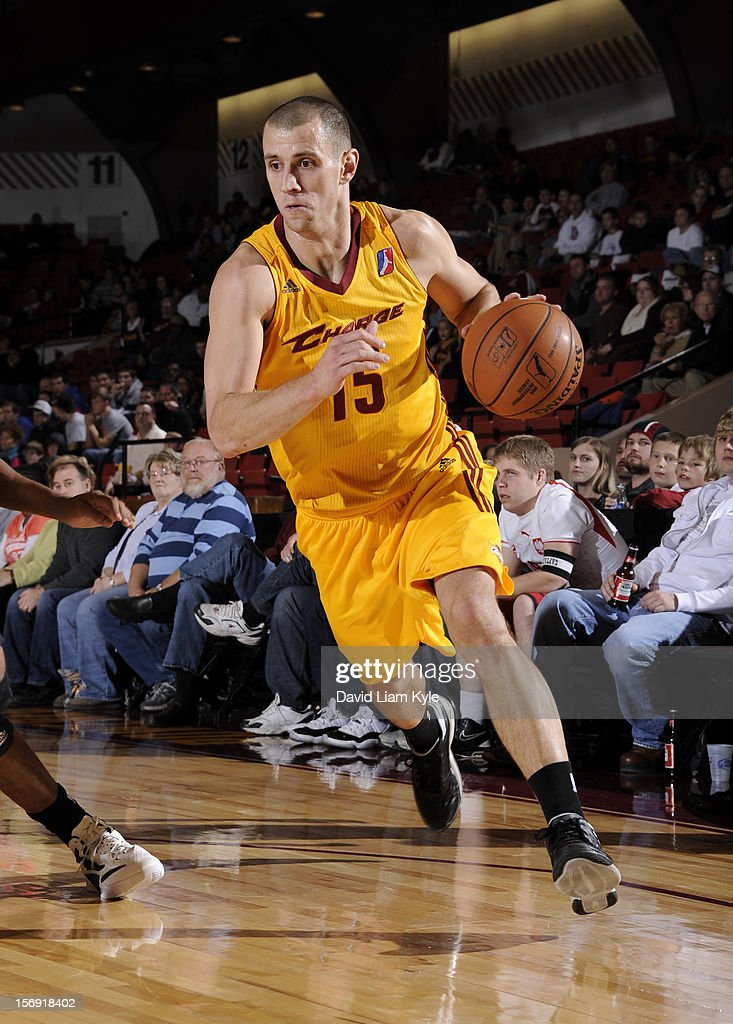 Alex Ruoff #15 of the Canton Charge drives to the hoop against the Springfield Armor at the Canton Memorial Civic Center on November 24, 2012 in Canton, Ohio.