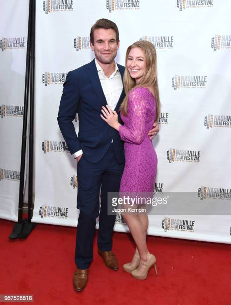 Alex Russell and Diana Hopper attend the screening of 'Bramptons Own' at the Regal 27 Hollywood Theater on May 11 2018 in Nashville Tennessee