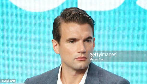 Alex Russell of 'SWAT' speaks onstage during the 2017 Summer TCA Tour CBS Panels held at Various Locations on August 1 2017 in Los Angeles California