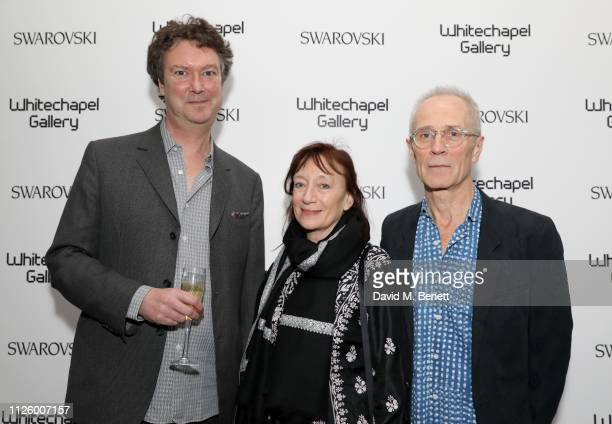 Alex Sainsbury Ann Gallagher and David Batchelor attend a glamorous gala dinner at Whitechapel Gallery as Rachel Whiteread is celebrated as the...