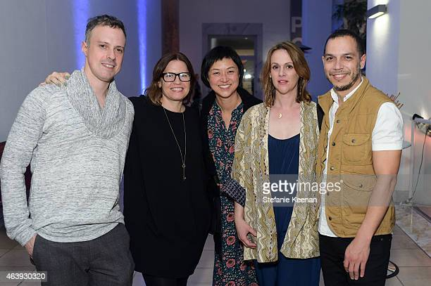 Alex Sakota Anne Ellegood Christine Y Kim Jade Gordon and Malik Gaines attend Hammer Museum's Provocations Presented In Partnership With Burberry...
