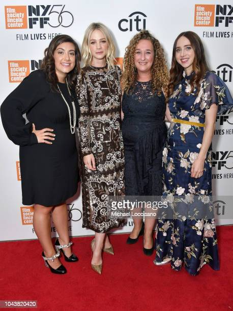 Alex Saks Carey Mulligan Riva Marker and Zoe Kazan attend the 'Wildlife' premiere during the 56th New York Film Festival at Alice Tully Hall Lincoln...