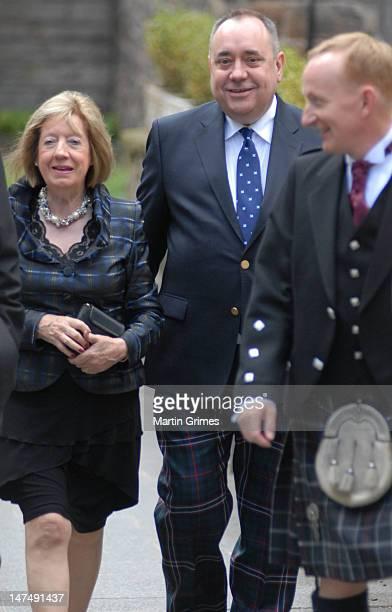 Alex Salmond and his wife Moira Salmond attend the European Premiere of Disney Pixar's Brave `closing the 66th Edinburgh International Film Festival...