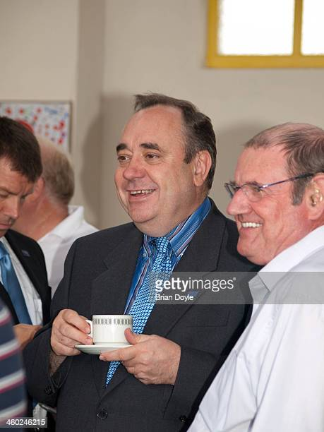 Alex Salmond at the 75th Anniversary of the Stonehaven Open Air Pool.