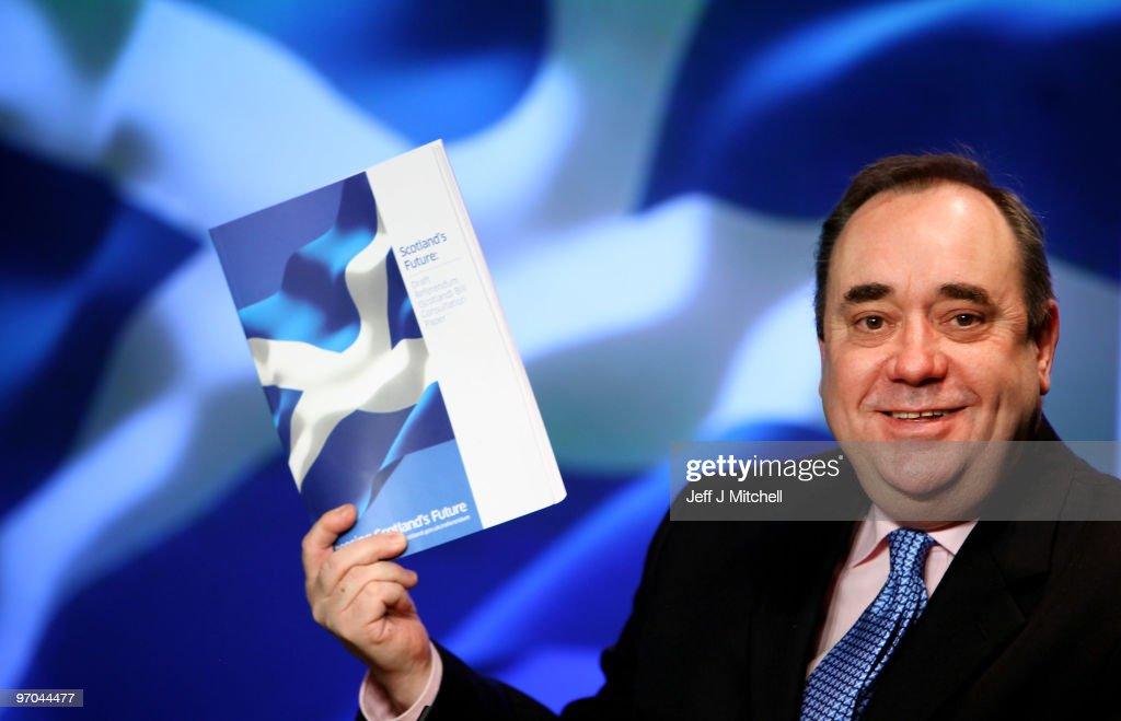 Alex Salmond Launches A Draft Referendum Bill On Scottish Independence : News Photo