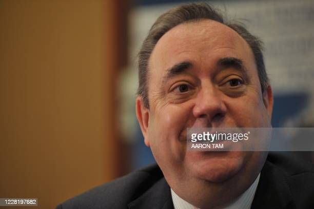 Alex Salmond, First Minister of Scotland smiles during an interview with AFP in Hong Kong on December 9, 2011. Salmond on December 9 praised the...