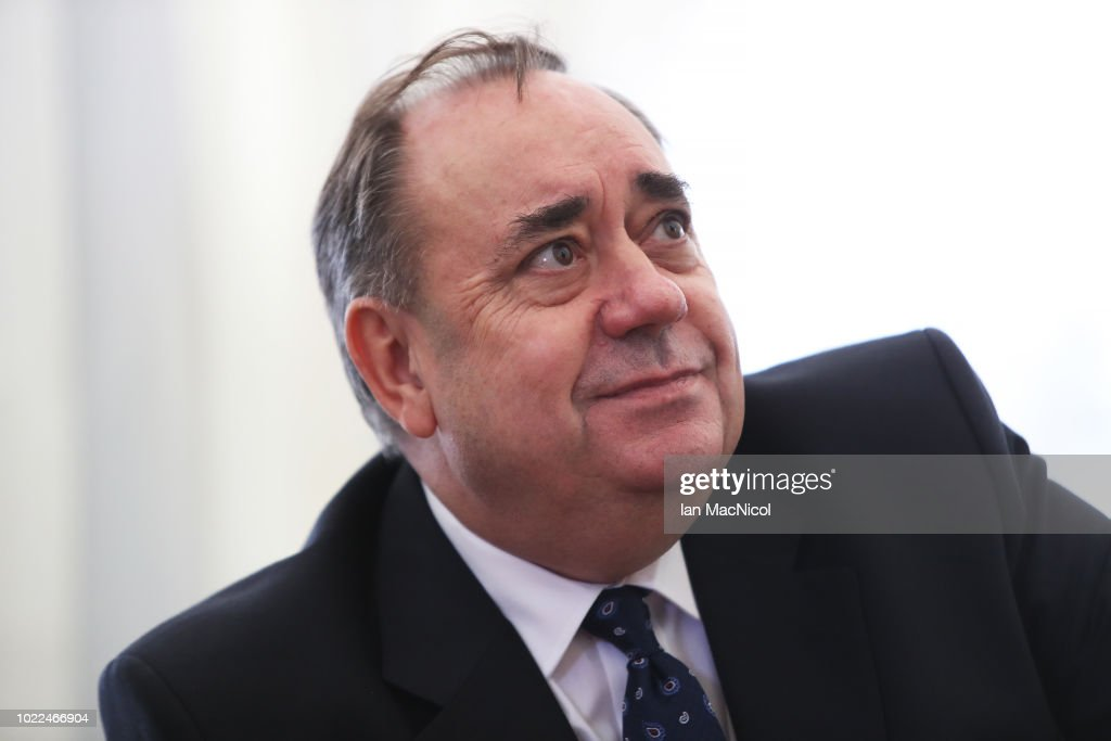 Alex Salmond Holds Press Conference Regarding Sexual Harassment Allegations : News Photo