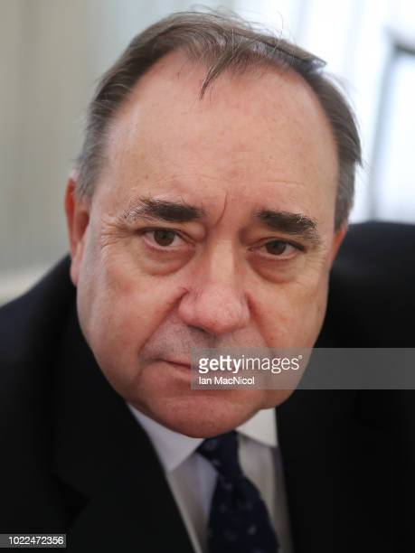 Alex Salmond holds a press conference regarding the sexual harassment allegations made against him at The Champany Inn Linlithgow on August 24 2018...