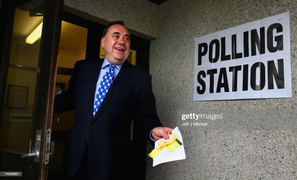 Voting Takes Place For Scottish Parliamentary Elections : News Photo