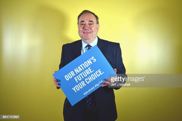 Alex Salmond MP during a walk about at the SNP conference on March 18 2017 in Aberdeeen Scotland Party members and delegates are focusing on a second...