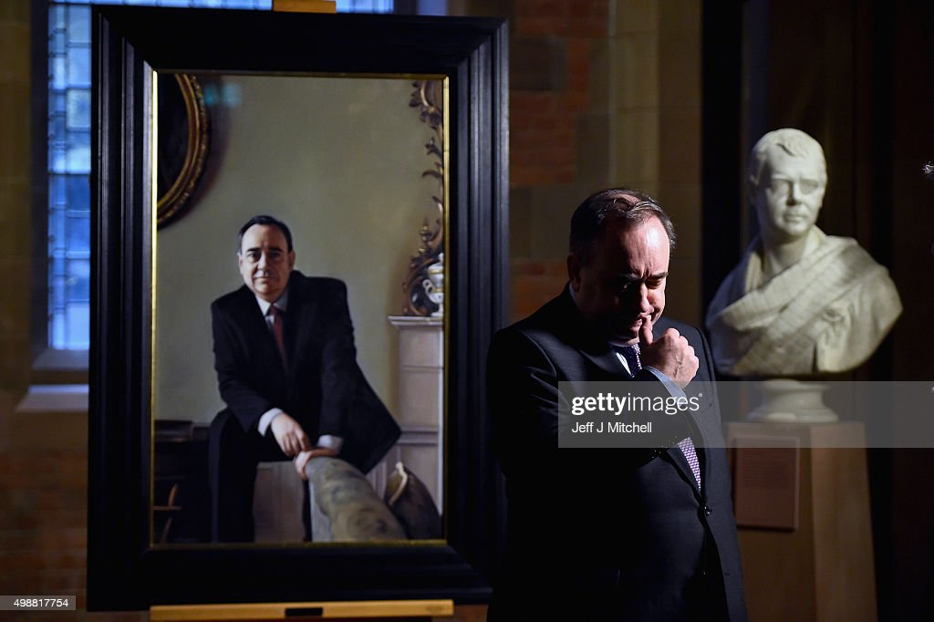 A Portrait Of Scotland's Former First Minister Is Unveiled At The Scottish Portrait Gallery : News Photo