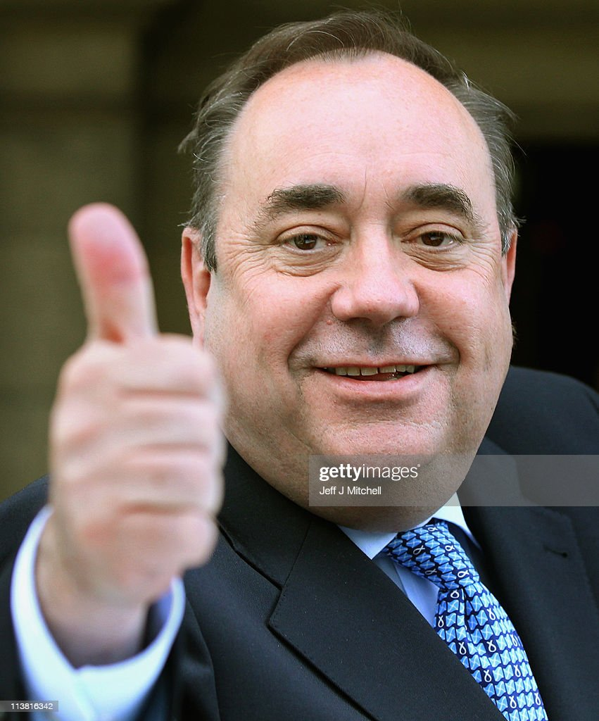 Alex Salmond, Scottish National Party Leader and Scotland's First Minister leaves Prestonfield House following his victory speech on May 6, 2011 in Edinburgh. The SNP has secured an unprecedented victory in the Scottish Parliament elections winning 69 seats in the 129 seat parliament.