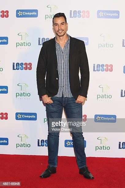 Alex Sandi attends Los 33 Mexico City premiere at Cinepolis Patio Santa Fe on August 24 2015 in Mexico City Mexico