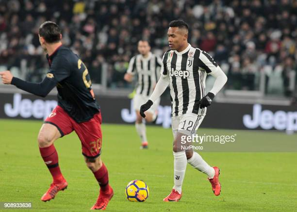 Alex Sandro during Serie A match between Juventus v Genoa in Turin on January 22 2017