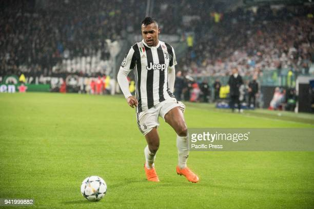 Alex Sandro during the Champions League match Juventus FC vs Real Madrid Real Madrid won 03 at Allianz Stadium in Turin Italy 3rd 2018