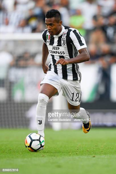Alex Sandro during the Serie A match between Juventus and Cagliari Calcio at Allianz Stadium on August 19 2017 in Turin Italy