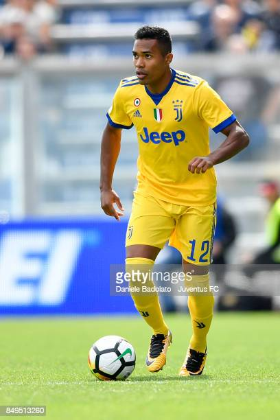 Alex Sandro during the Serie A match between US Sassuolo and Juventus at Mapei Stadium Citta' del Tricolore on September 17 2017 in Reggio...