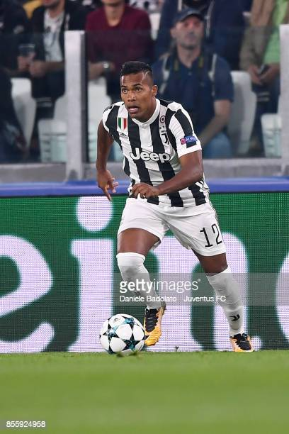 Alex Sandro during the UEFA Champions League group D match between Juventus and Olympiakos Piraeus at Allianz Stadium on September 27 2017 in Turin...