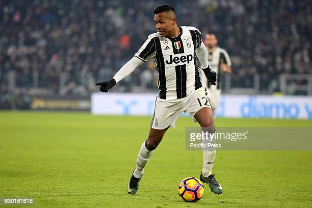 Alex Sandro in action during the Serie A match between Juventus FC and AS Roma Juventus wins 10 over Roma
