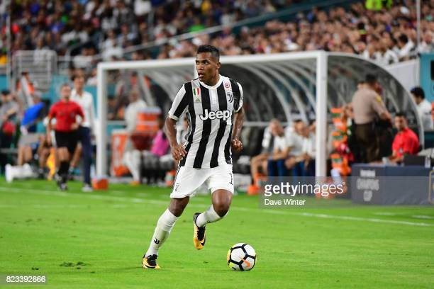 Alex Sandro Lobo Silva of Juventus during the International Champions Cup match between Paris Saint Germain and Juventus Turin at Hard Rock Stadium...