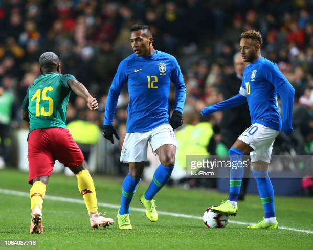 LR Alex Sandro of Brazil and Neymar of Brazil during Chevrolet Brazil Global Tour International Friendly between Brazil and Cameroon at Stadiummk...