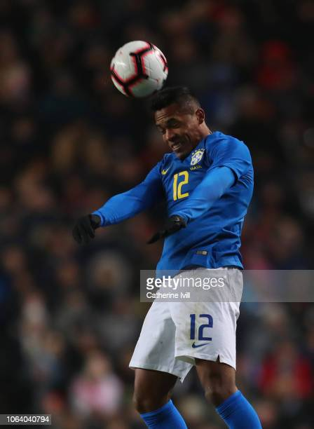 Alex Sandro of Brazil during the International Friendly match between Brazil and Cameroon at Stadium mk on November 20 2018 in Milton Keynes England
