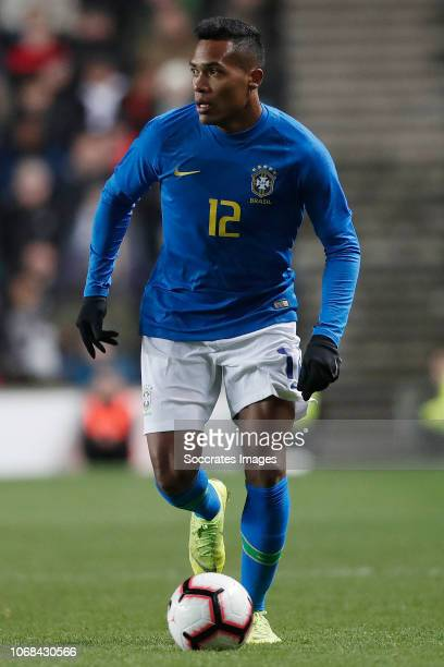 Alex Sandro of Brazil during the International Friendly match between Brazil v Cameroon at the Stadium MK on November 20 2018 in Milton Keynes United...