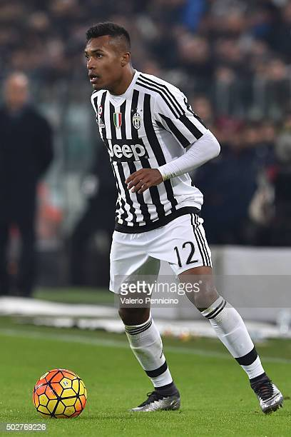 Alex Sandro of FC Juventus in action during the TIM Cup match between FC Juventus and Torino FC at Juventus Arena on December 16 2015 in Turin Italy