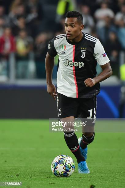 Alex Sandro of FC Juventus in action during the UEFA Champions League group D match between Juventus and Bayer Leverkusen at Juventus Arena on...