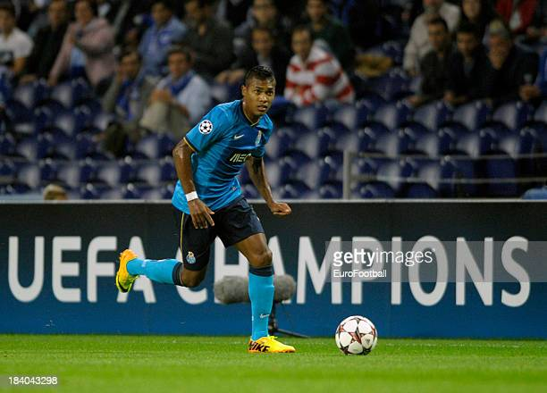 Alex Sandro of FC Porto in action during the UEFA Champions League group stage match between FC Porto and Club Atletico de Madrid held on October 1...
