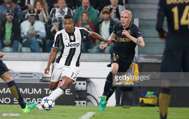 Alex Sandro of Juventus Andrea Raggi of Monaco during the UEFA Champions League semi final second leg match between Juventus Turin and AS Monaco at...