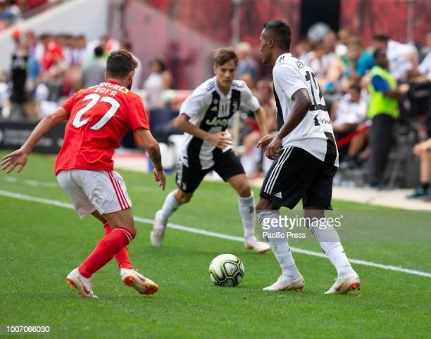 Alex Sandro of Juventus controls ball during ICC game against Benfica at Red Bull Arena Juventus won 1 1 on penalties