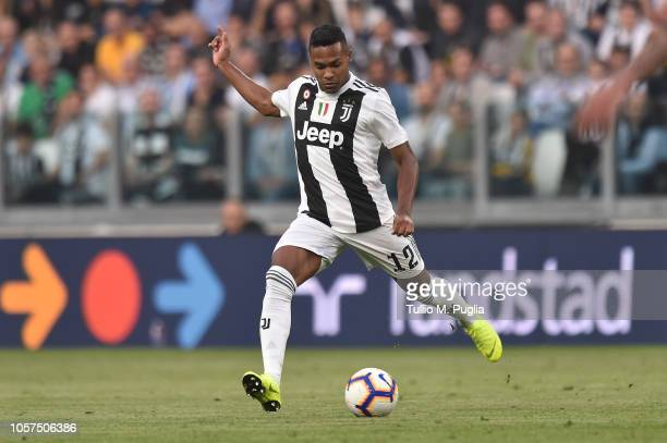 Alex Sandro of Juventus controls the ball during the Serie A match between Juventus and Genoa CFC at Allianz Stadium on October 20 2018 in Turin Italy