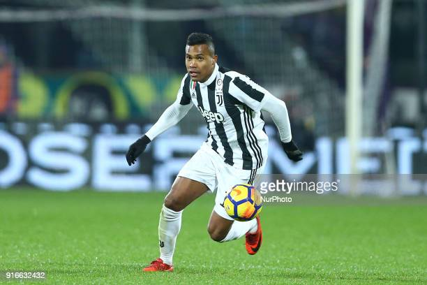 Alex Sandro of Juventus during the serie A match between ACF Fiorentina and Juventus at Stadio Artemio Franchi on February 9 2018 in Florence Italy