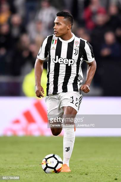 Alex Sandro of Juventus during the serie A match between Juventus and Atalanta BC on March 14 2018 in Turin Italy
