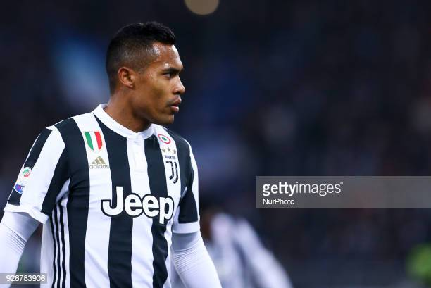 Alex Sandro of Juventus during the Serie A match between Lazio and Juventus at Olympic Stadium Roma Italy on 03 March 2018