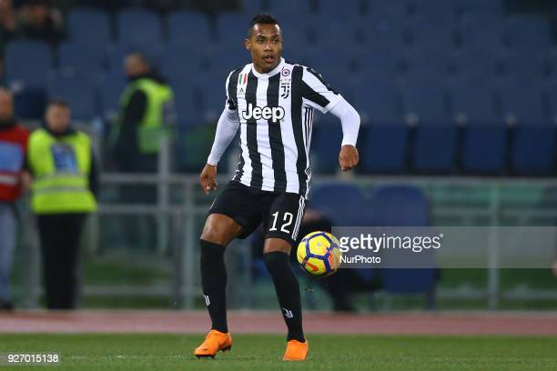 Alex Sandro of Juventus during the serie A match between SS Lazio and Juventus at Stadio Olimpico on March 3 2018 in Rome Italy