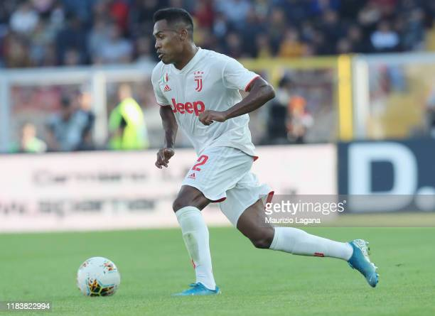 Alex Sandro of Juventus during the Serie A match between US Lecce and Juventus at Stadio Via del Mare on October 27, 2019 in Lecce, Italy.