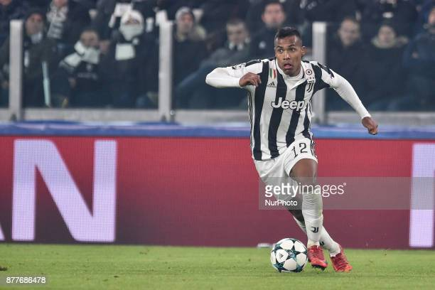 Alex Sandro of Juventus during the UEFA Champions League match between Juventus and Barcelona at the Juventus Stadium Turin Italy on 22 November 2017