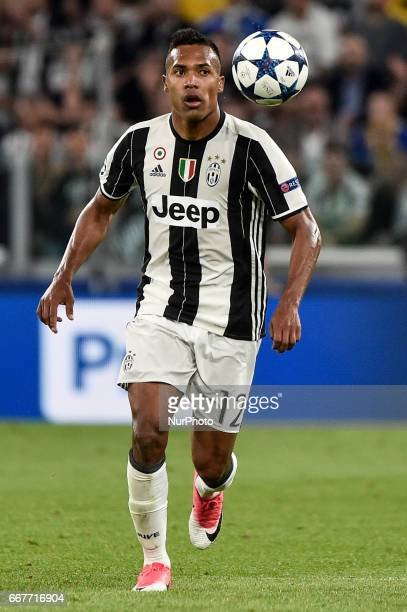 Alex Sandro of Juventus during the UEFA Champions League quarter final match between Juventus and Barcelona at the Juventus Stadium Turin Italy on 11...