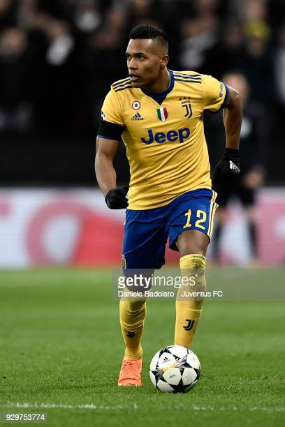 Alex Sandro of Juventus during the UEFA Champions League Round of 16 Second Leg match between Tottenham Hotspur and Juventus at Wembley Stadium on...