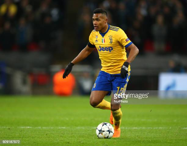 Alex Sandro of Juventus FC during UEFA Champions League Round of 16 2nd Leg match Tottenham Hotspur against Juventus at Wembley Stadium on 07 March...
