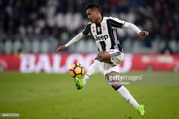 Alex Sandro of Juventus FC in action during the Serie A football match between Juventus FC and Empoli FC Juventus FC wins 20 over Empoli FC