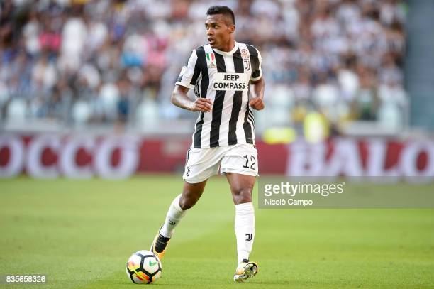 Alex Sandro of Juventus FC in action during the Serie A football match between Juventus FC and Cagliari Calcio Juventus FC wins 30 over Cagliari...