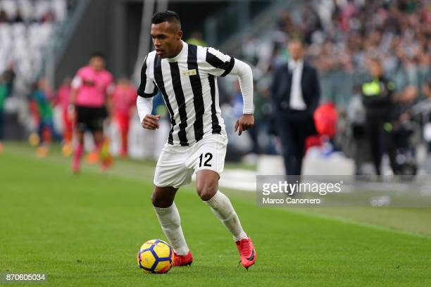 Alex Sandro of Juventus FC in action during the Serie A football match between Juventus FC and Benevento Calcio Juventus players wear a special shirt...