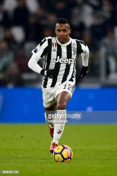 Alex Sandro of Juventus FC in action during the Serie A football match between Juventus FC and Genoa CFC Juventus FC won 10 over Genoa CFC