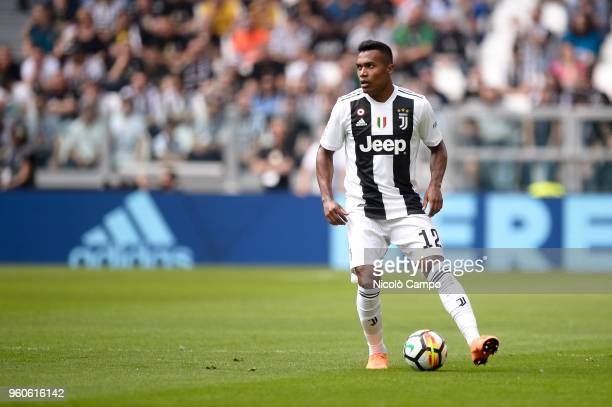 Alex Sandro of Juventus FC in action during the Serie A football match between Juventus FC and Hellas Verona FC Juventus FC won 21 over Hellas Verona...