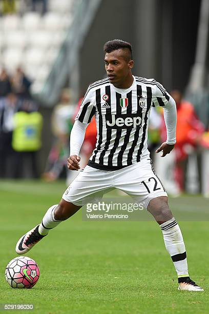 Alex Sandro of Juventus FC in action during the Serie A match between Juventus FC and Carpi FC at Juventus Arena on May 1 2016 in Turin Italy