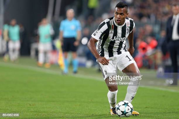 Alex Sandro of Juventus FC in action during the UEFA Champions League group D match between Juventus FC and Olympiakos Juventus Fc wins 20 over...